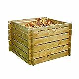 forestfox™ Garden Wooden Compost Bin Recycling Waste Composter Composting Storage Mulch New