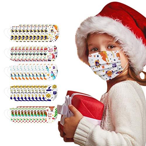 Koly-Hundebett Einweg Gesicht màsc Bandanas für Kinder mit Weihnachtsdruck Gesicht Bandanas Set ohne waschbar, Anti-Haze Staub, für Kinder, Multi Size