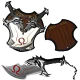 God Of War 17' Twin Blade Kratos Sword Set With Plaque