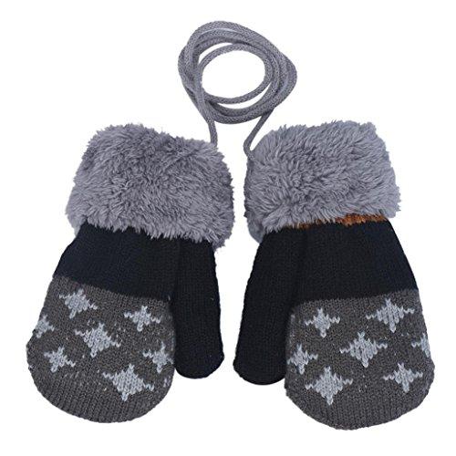 K-youth® Guantes Invierno calientes cuerda suaves