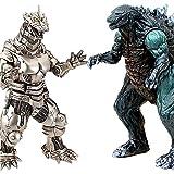 ZAVR Godzilla Figures Kings of The Monsters - 2 pcs, Movie Monster Series Godzilla 15 inch, MechaGodzilla 12 inch (Head-to-Tail), Carry Bag