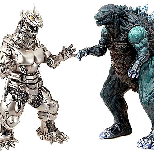 ZAVR Godzilla Figures Kings of The Monsters - 2 pcs, Movie Monster Series Godzilla 15 inch, MechaGodzilla 12 inch (Head-to-Tail), Carry Bag