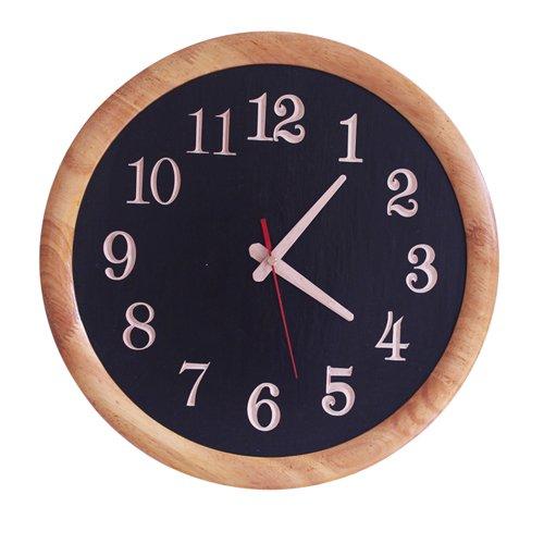 YROAR CLOCKS Stummschaltung des urspr¨¹nglichen kreativen modernen minimalistischen Wohnzimmer Wanduhr aus massivem Holz rund um elektronische Uhr, 14 Zoll