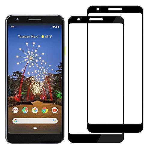2 Stück Pixel 3A Displayschutzfolie HD klar kompatibel mit Google Pix 3 A gehärtetes Glas Googel Pixell 3-A Schutzfolie Abdeckung 9H Härte Gooe Pixel3a gebogen Hülle freundlich 5,6 Zoll (Schwarz)