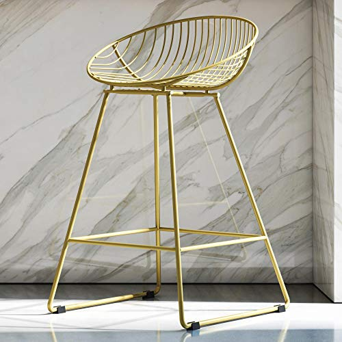 CosmoLiving by Cosmopolitan Ellis Barstools Gold