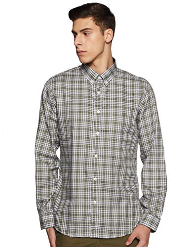 Van Heusen Sport Men's Checkered Slim Casual Shirt (VSSFWSLPC35017_Multicolor 42)