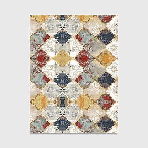 Teppich Designer Kurzflor Weich Teppiche Vintage Barockstil Teppich geeignet für Zimmer, Schlafzimmer, Flursofa 160x200M (5ft3 x6ft7)