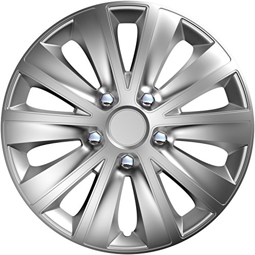 CM DESIGN 14 Zoll Rapide NC Silber, passend für Fast alle Kia z.B. für Picanto