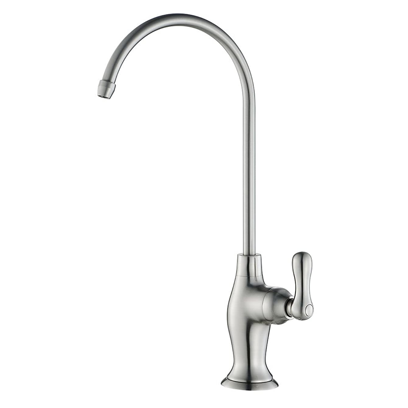 KES RO Water Filter Faucet Kitchen Bar Sink LEAD-FREE Brass Drinking Water Faucet Brushed Nickel, Z104ALF-2