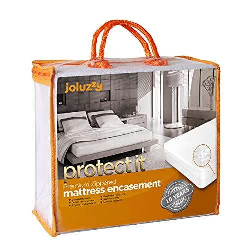 Joluzzy Zippered Mattress Protector - Waterproof Six-Sided Mattress...