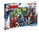 Clementoni 29107, Avengers Supercolor Puzzle for Children - 180 Pieces, Ages 7 Years Plus