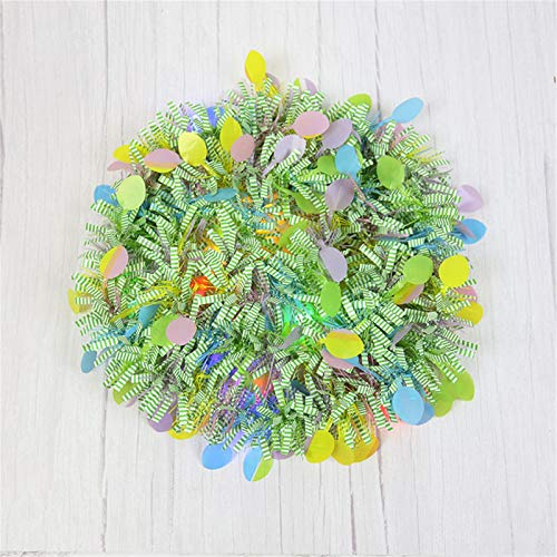 6.56 Feet Easter Tinsel Metallic Glitter Garlands Colorful Fringe Garlands Metallic Festooning Garlands Hanging Tinsel Decoration for Easter Party Supplies