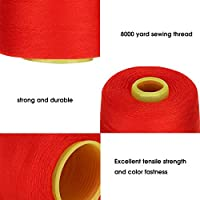 ミシン縫製用のミシン糸多機能糸手工芸品(red)