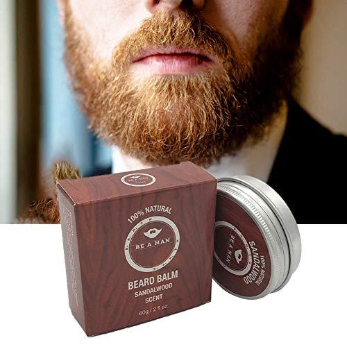 Herren Bart Balsam Premium mit Sandelholz, Pflege Bartweichmacher Pflegendes Bartwachs Bartcreme Bartpflegemittel Bartpflegeprodukt