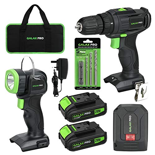 GALAX PRO Cordless DIY Power Tool Kit, 2-Speed Drill Driver...
