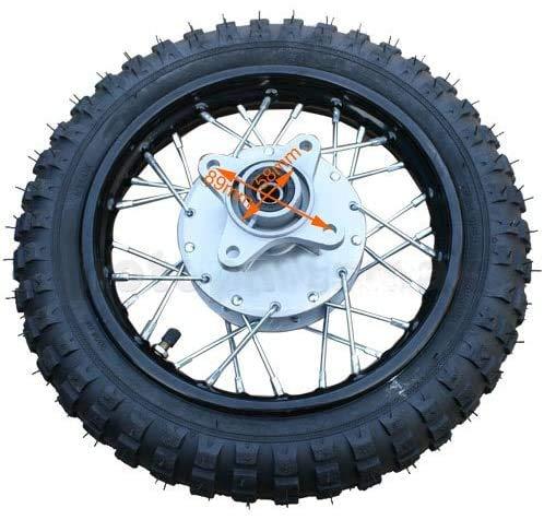 X-PRO 10' Rear Wheel Rim Tire Assembly for 50cc 70cc 110cc Dirt Bikes