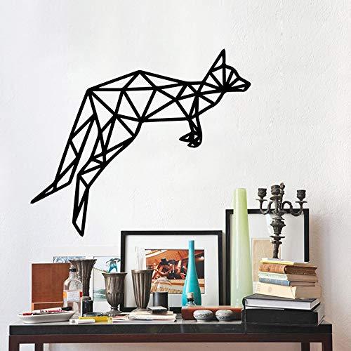 Preisvergleich Produktbild XCGZ Wandsticker Geometrischer Kunst-Känguru-kindischer Wandaufkleber-entfernbarer dekorativer Aufkleber
