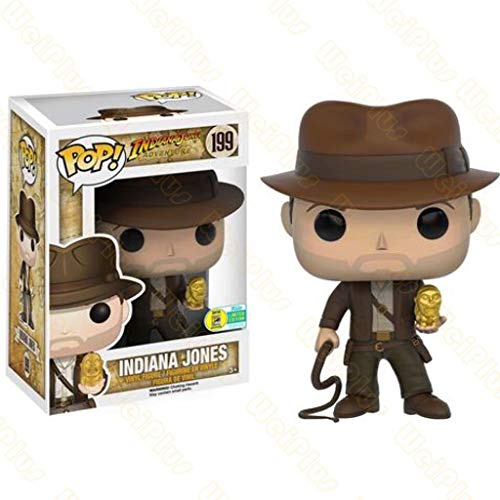 Luck7DZ Pop Indiana Jones En Busca del Arca perdida Figura Embalaje decoración de Pascua Accesorios de Las Decoraciones - 3.9inch