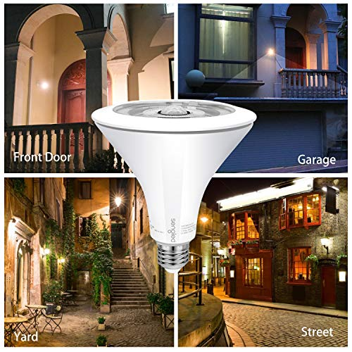 Sengled Smartsense Motion Sensor & Light Sensor Bulb Outdoor Waterproof LED Flood Light Bulb Dusk to Dawn Warm White 3000K (3rd Gen) PAR38 E26 Lamp, 1 Pack