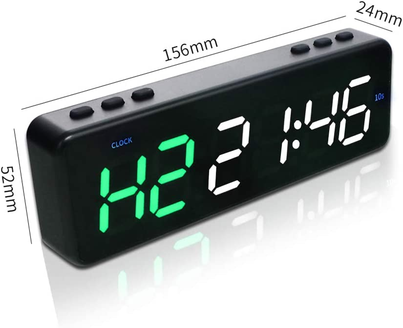 GAN XIN ABS Plastic Mini Interval Timer Fitness Battery Powered Timer Clock Countdown Timer with Button Control