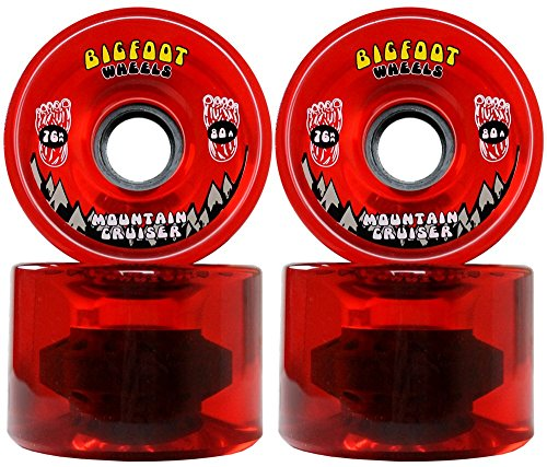 Bigfoot Longboard Wheels 76mm 80A SHR Mountain Cruisers Translucent...