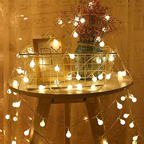 Guirlande à piles USB / guirlande guirlande lumineuse LED guirlande sphérique lumières fête de Noël cordes batterie 6m60 leds