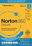 Norton 360 Deluxe – Antivirus software for 3 Devices with Auto Renewal - Includes VPN, PC Cloud Backup & Dark Web Monitoring powered by LifeLock [Key Card]