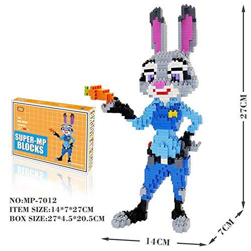 RSVT Mini Bloques De Construcción, Juguetes Zootopia Fox Y Conejo, Regalos para Niños,Rabbit