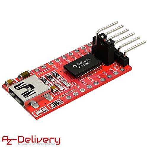 AZDelivery FTDI Adapter FT232RL USB zu TTL Serial für 3,3V und 5V inklusive E-Book!