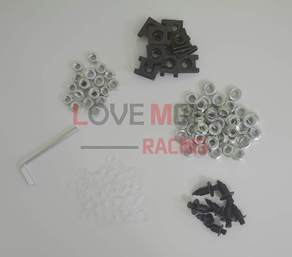 LoveMoto Juegos completos de Tornillos y Tuercas de carenado para Z750S Clips de fijaci/ón y Tornillos de Aluminio Dorado Plata
