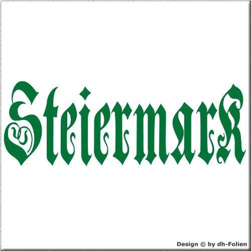 cartattoo4you AK-00288 | STEIERMARK - Fraktur / Altdeutsche Schrift | Autoaufkleber Aufkleber FARBE...