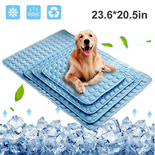 Dog Cooling Mat, Pet Cooling Pads for Dogs Cats Washable Summer Kennel Mat, Breathable Self Cooling...