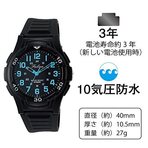 [シチズンQ&Q]腕時計アナログ防水ウレタンベルトVP84-852メンズブラックブルー