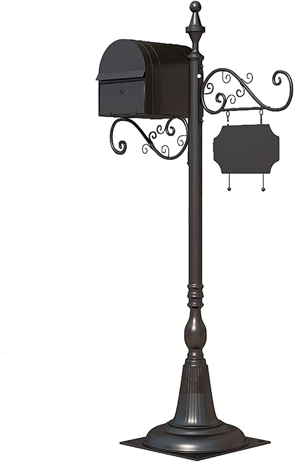 40% OFF Cheap Sale HYDT Metal Floor Mailbox Ranking TOP3 Black Post-Mount Lock with Letterboxes
