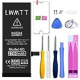 LWMTT Batería para la Reparación del lphone 6 de Juego de Herramientas Reemplazo de 2200mAh con Batería de Reemplazo Potente de Mayor Capacidad