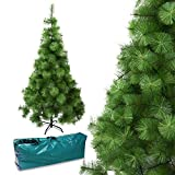 Arcoiris Árbol de Navidad Artificial Acebo, Natural Verde, Material PVC, Soporte deMetal (180CM, Agujas de Pino)