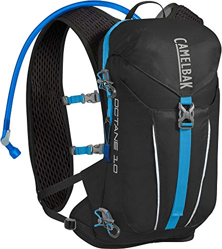 CAMELBAK Products LLC Unisex – Erwachsene Octane 10 Trinkrucksack, Black/Atomic Blue, 70oz