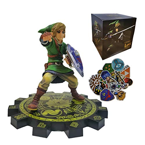 Modelo fondo disco grande Zelda Figura acción Legend of Zelda: Ocarina of Time Link en Goron Tunic,