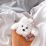 SevenPanda für Airpods 1 und 2 Plush Hülle, Knitted Süße 3D Lustig Cartoon Winter Airpod Hülle, Schutzohrhörer Deckt Hautschutzbeutel für Kinder Teens Jungen Airpods (H& - Brown)