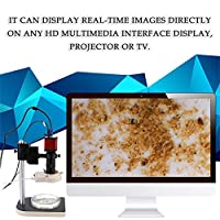 1.3 Megapixel Industrial Microscope Set 60F/S VGA HD Multimedia Interface Microscope Camera 1280*1024 with 56 LED Ring Light