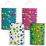 Linternas de Papel, Farolillos de Papel de Lunares de Colores Decoracion Fiestas, Variedad. Precio por 1 piezy
