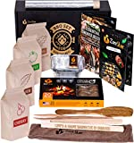 Zorestar Grill Cooking Set for Smoking: Wood Chips Variety/Smoker Box/BBQ Tools and Other Smoking/Grilling Accessories for Men Husband dad
