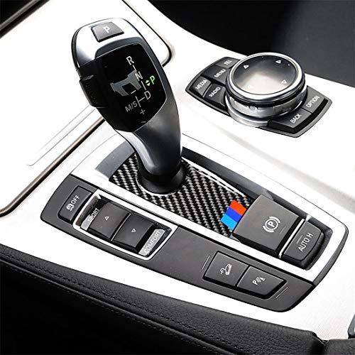 Mea3471de Car Interior Stampaggio Tre colori fibra di carbonio auto freno a mano sotto il pannello adesivo decorativo for BMW Serie 5 F07 F10 F25 F26 / GT X3 X4 2009-2016 (Color : Color1)