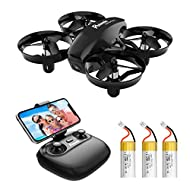 Potensic A20W Mini Drone with Camera for Kids, FPV 2.4G WiFi, Induction Mode of Gravity, Altitude Ho...