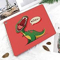 IPad Pro 11 ケース 2018新モデル対応 二つ折スタンド保護ケース iPad Pro 11インチ 専用カバー オートスリープ機能付き 手帳型 タブレットカバー積極的な先史時代の漫画動物の轟音開いた口野生動物の画像