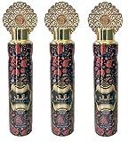 Set di 3 vaporizzatori QAMAR AL LAYALI 300 ml deodorante per interni casa auto spray tessile elimina odori imprigionati in tessuti profumati al profumo di caramel canna da zucchero vaniglia speziata