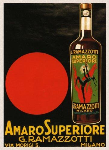 CANVAS Red Devil Amaro Superiore G. Ramazzotti Milano Milan Italian Drink Italy Italia 16