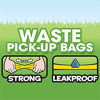 Bags On Board Dog Poop Bags | Strong, Leak Proof Dog Waste Bags | 9 x14 Inches, 315 Blue Bags 5