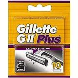 Gillette Lames de Rasoir Homme GII Plus Lubrastrip, Pack de 10 Lames de Recharges...
