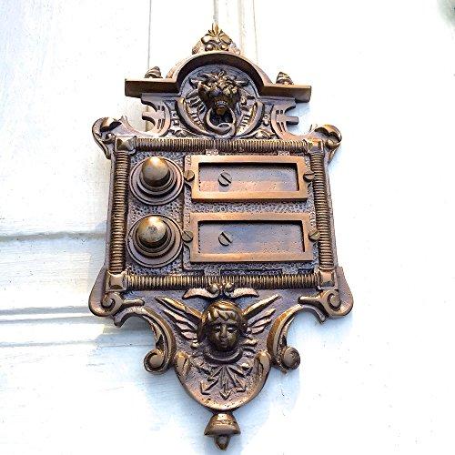 Antikas - Türklingel für 2 Etagen im Stil der Gründerzeit - wie Antik- Historismus-Klingel
